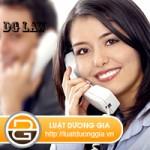 Luật sư tư vấn luật trực tuyến qua điện thoại