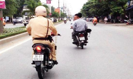 Cảnh sát giao thông có được quyền đuổi theo người tham gia giao thông vi phạm?
