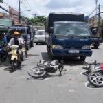 Xử lý trường hợp đi vào điểm mù của xe tải xảy ra tai nạn